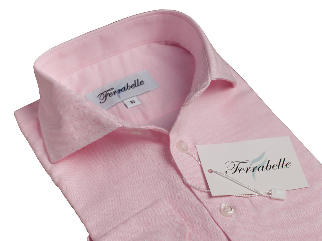 Boys' Long Sleeve Dress Shirt Oxford Cotton Blend Pink