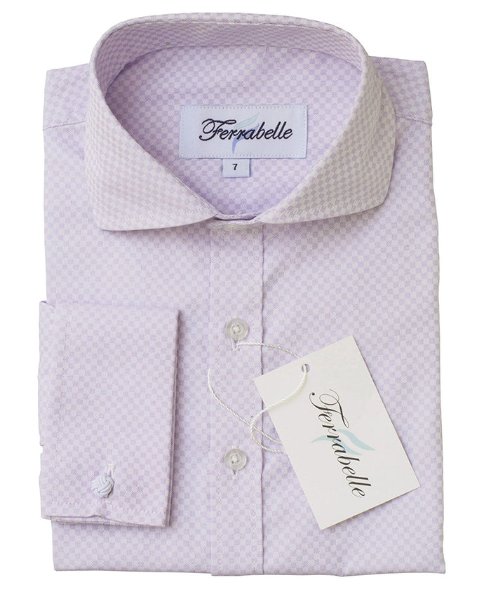 Lilac Boys Formal Wear Dress Shirt - Solid Long Sleeve With French Cuffs Lilac