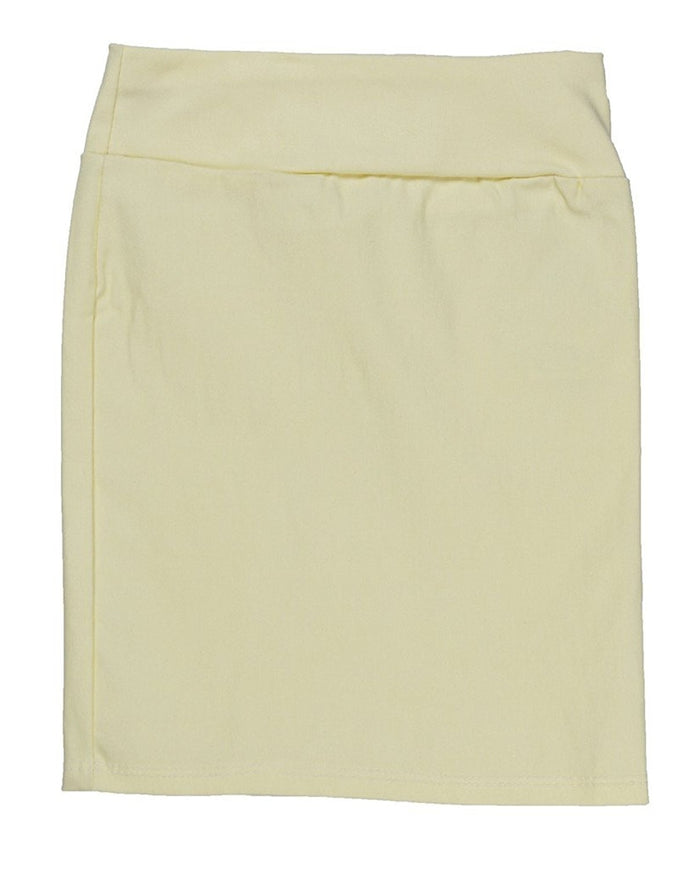 Yellow Caldore Girls 7-16 Pencil Skirt