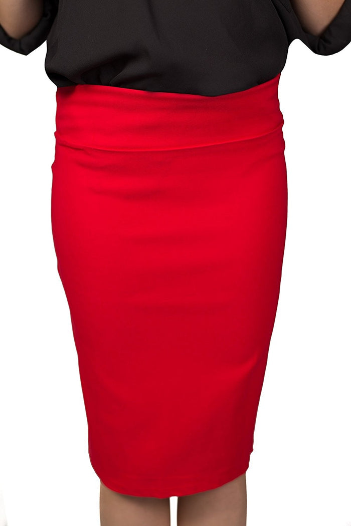 Red Caldore Girls 7-16 Pencil Skirt