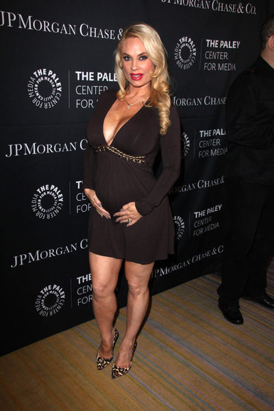 Coco Austin Flaunts Strapless Bra in Support of Breast Cancer Awareness