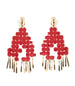 LHD X AURELIE BIDERMANN MARELLA EARRINGS - RED