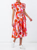 THE GLADES DRESS - SEASHELL PRINT PINK