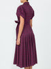 THE GLADES DRESS - WAVY STRIPE BURGUNDY
