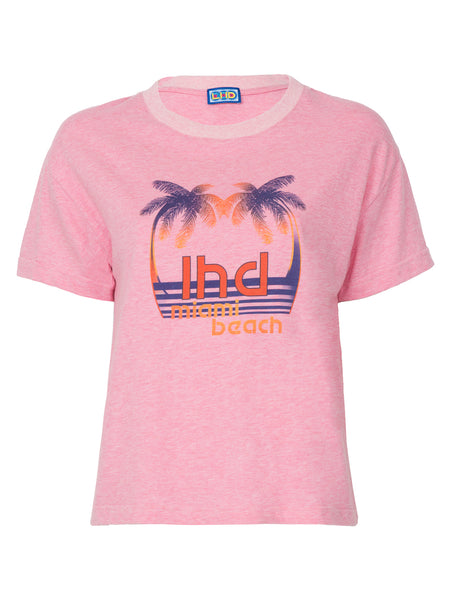 THE PALM PRINT TEE - PINK