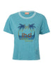 THE PALM PRINT TEE - BLUE