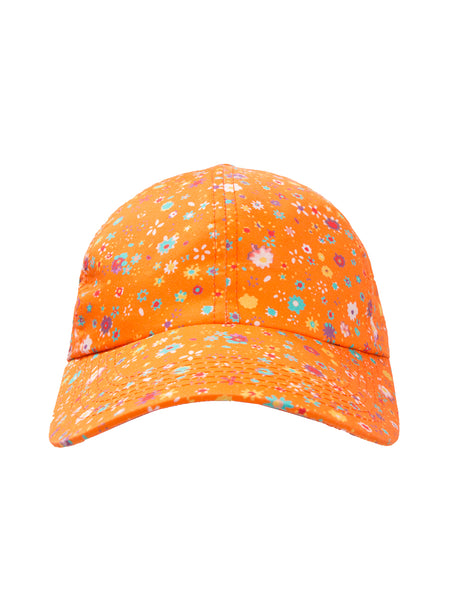 THE SOUTH POINTE HAT - BLURRY DITZY FLORAL ORANGE