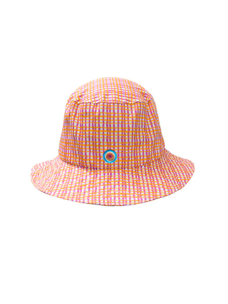 THE STONE CRAB HAT - WAVY STRIPE PINK