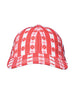 THE SOUTH POINTE HAT - GINGHAM WITH FLOWERS RED