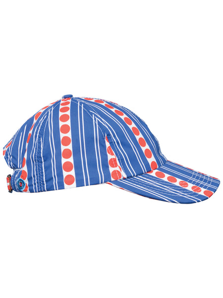 THE SOUTH POINTE HAT - STRIPES AND DOTS BLUE