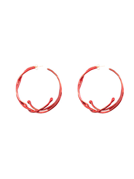 LHD X AURELIE BIDERMANN ARIANE EARRINGS - RED