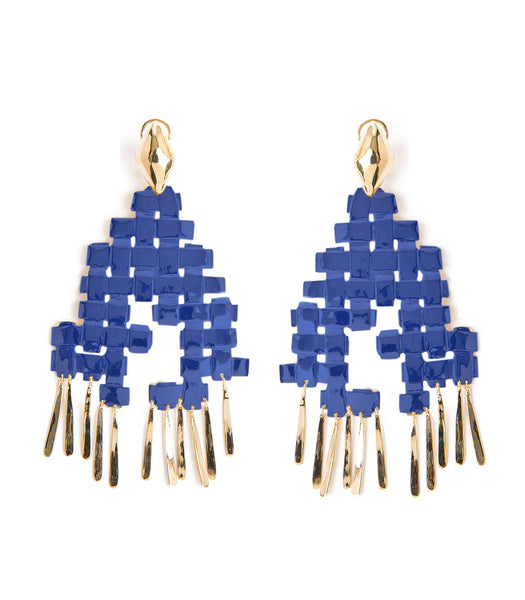 LHD X AURELIE BIDERMANN MARELLA EARRINGS - BLUE CLIP