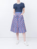 THE BARDOT SKIRT - STRIPES AND DOTS BLUE