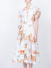 THE CHATEAU DRESS - ST. TROPEZ LANDSCAPE WHITE