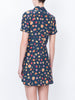 THE CLEMENCEAU DRESS - MINI FRUIT PRINT NAVY