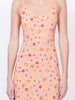 THE ELVIRA SLIP DRESS - MINI FRUIT PRINT PEACH