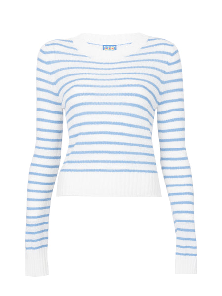 THE FRANCOISE SWEATER - BLUE STRIPE