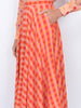 THE FRENCH RIVIERA SKIRT - GINGHAM RED ORANGE PEACH