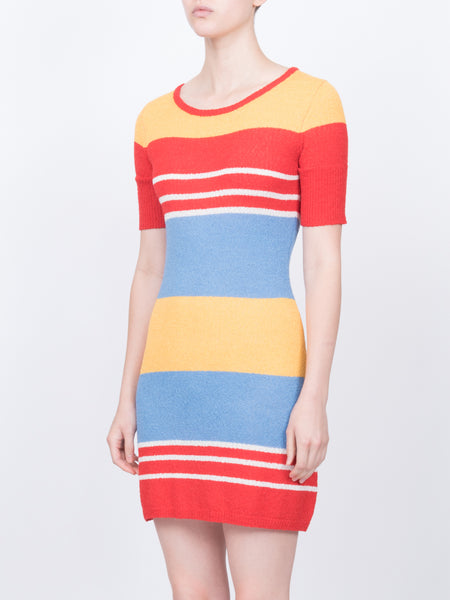 THE JANE DRESS - MULTI STRIPE