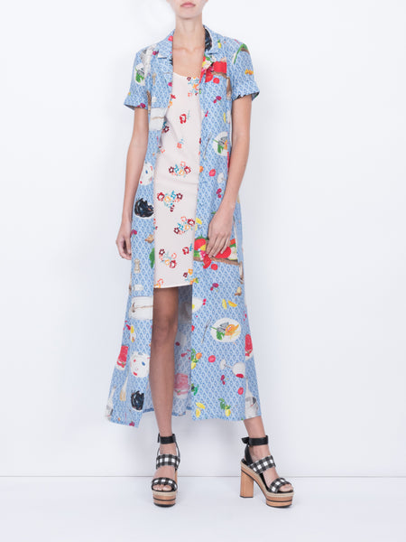 THE MARLIN DRESS - LE CLUB + FLORAL POPPY PRINT SMALL