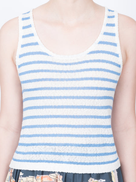 THE MOOREA TANK - BLUE STRIPE