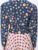 THE ODALYS BLOUSE - MINI FRUIT PRINT NAVY