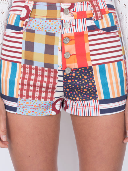 THE PEARL BEACH SHORTS - PATCHWORK