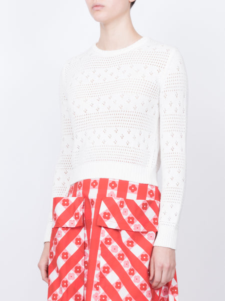 THE PLACE DE LICES SWEATER - WHITE