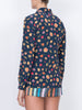 THE STAR ISLAND BLOUSE - MINI FRUIT PRINT NAVY