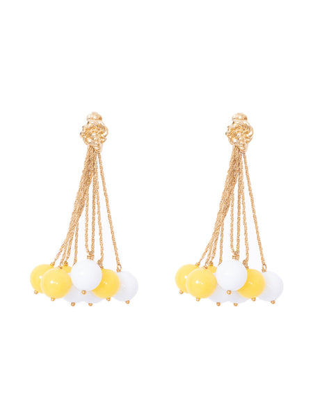LHD X AURELIE BIDERMANN PALAZZO EARRINGS - YELLOW + WHITE