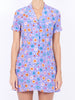 THE CLEMENCEAU DRESS - CAREYES FLORAL PRINT MAUVE