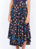 THE FRENCH RIVIERA SKIRT - CAREYES FLORAL PRINT BLACK