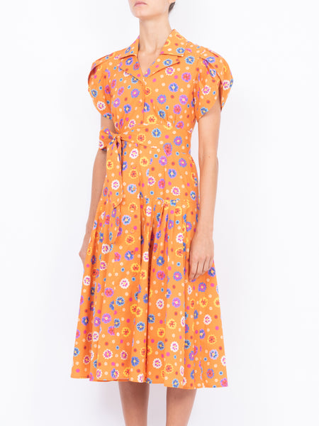 THE GLADES DRESS - CAREYES FLORAL PRINT ORANGE