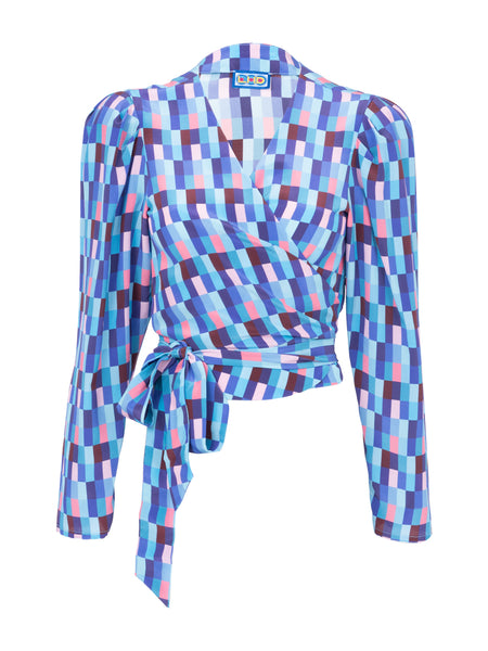 THE ODALYS BLOUSE - CHECKS BLUES