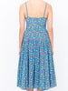 THE AD'ELE DRESS - AQUA FIELD FLOWER