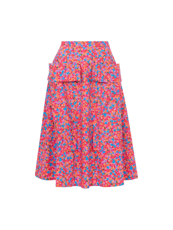 THE BARDOT SKIRT - BRIGHT FRENCH FIG