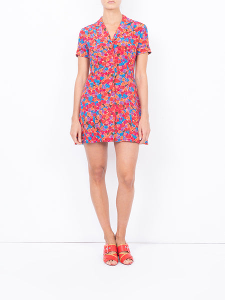 THE CLEMENCEAU DRESS - BRIGHT FRENCH FIG