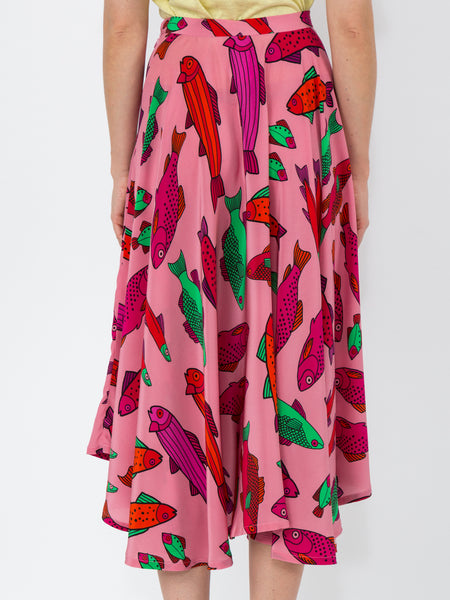 THE FRENCH RIVIERA SKIRT - PINK CORSICAN TROUT