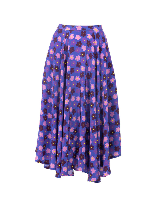 THE FRENCH RIVIERA SKIRT - PURPLE RETRO BLOSSOM