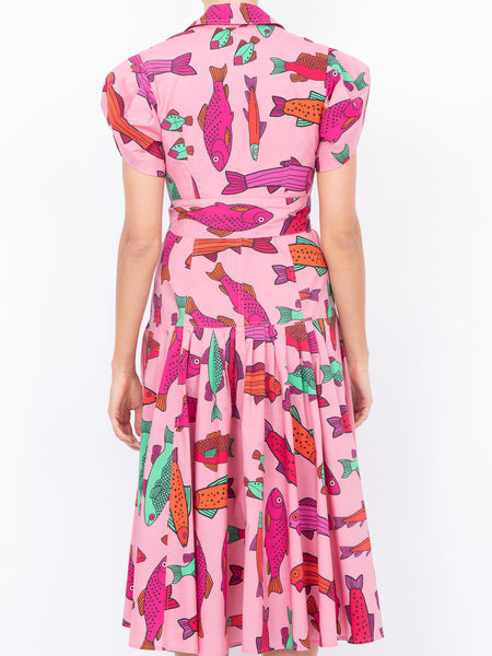 THE GLADES DRESS - PINK CORSICAN TROUT