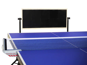 Return board for table tennis with all black colored rubber surface