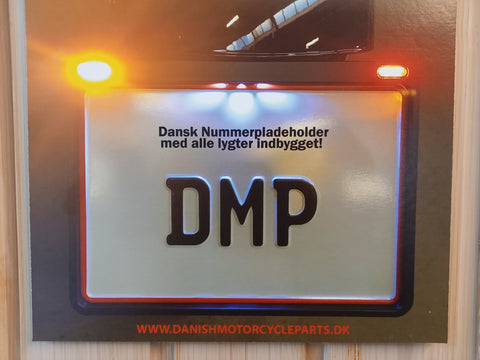 DMP Clean ASS nummerplade holder 3-1 LED
