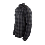 MOTOSHIRT GREY/BLACK WITH XTM KEVLAR