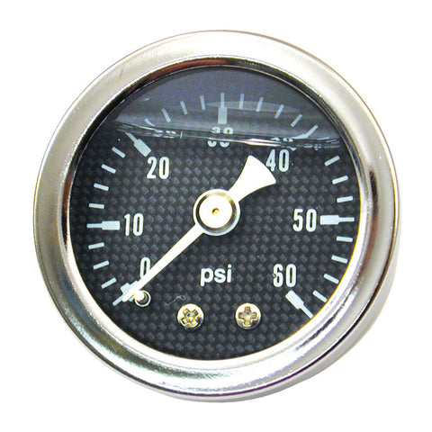 MCS OIL PRESSURE GAUGE CARBON