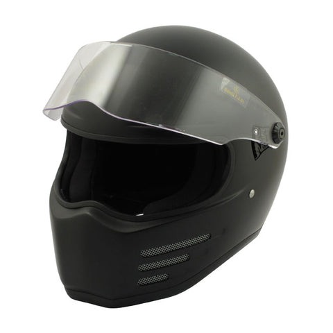 Bandit Fighter Helmet Matt Black ECE APPROVED
