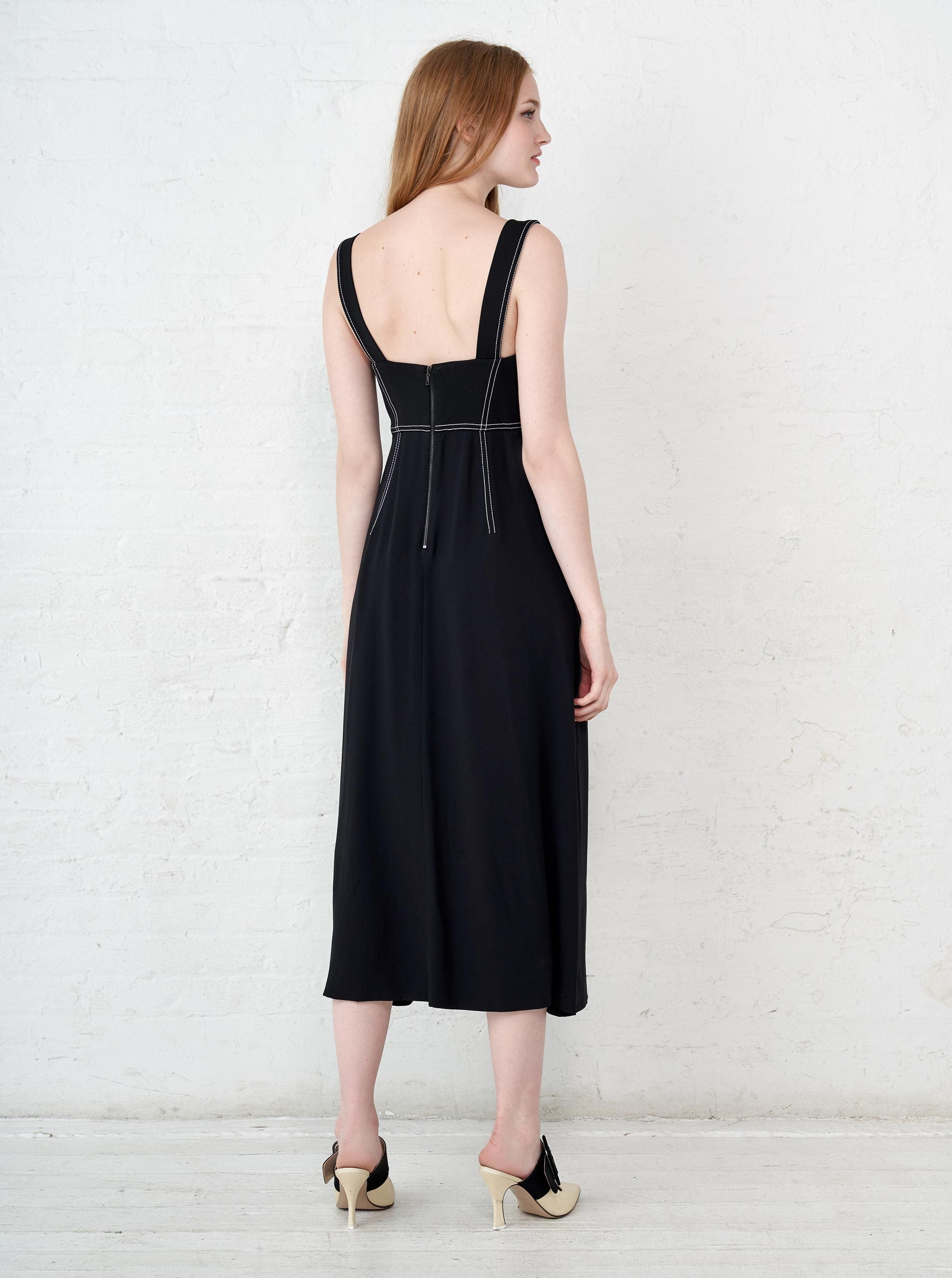 Top Stitch Dress - La Ligne