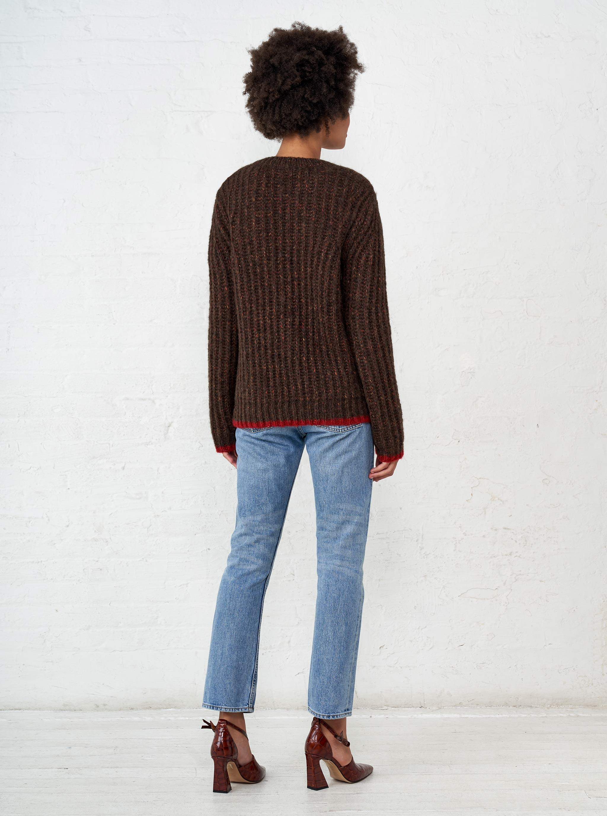 Fuzzy Wuzzy V-Neck Sweater - La Ligne
