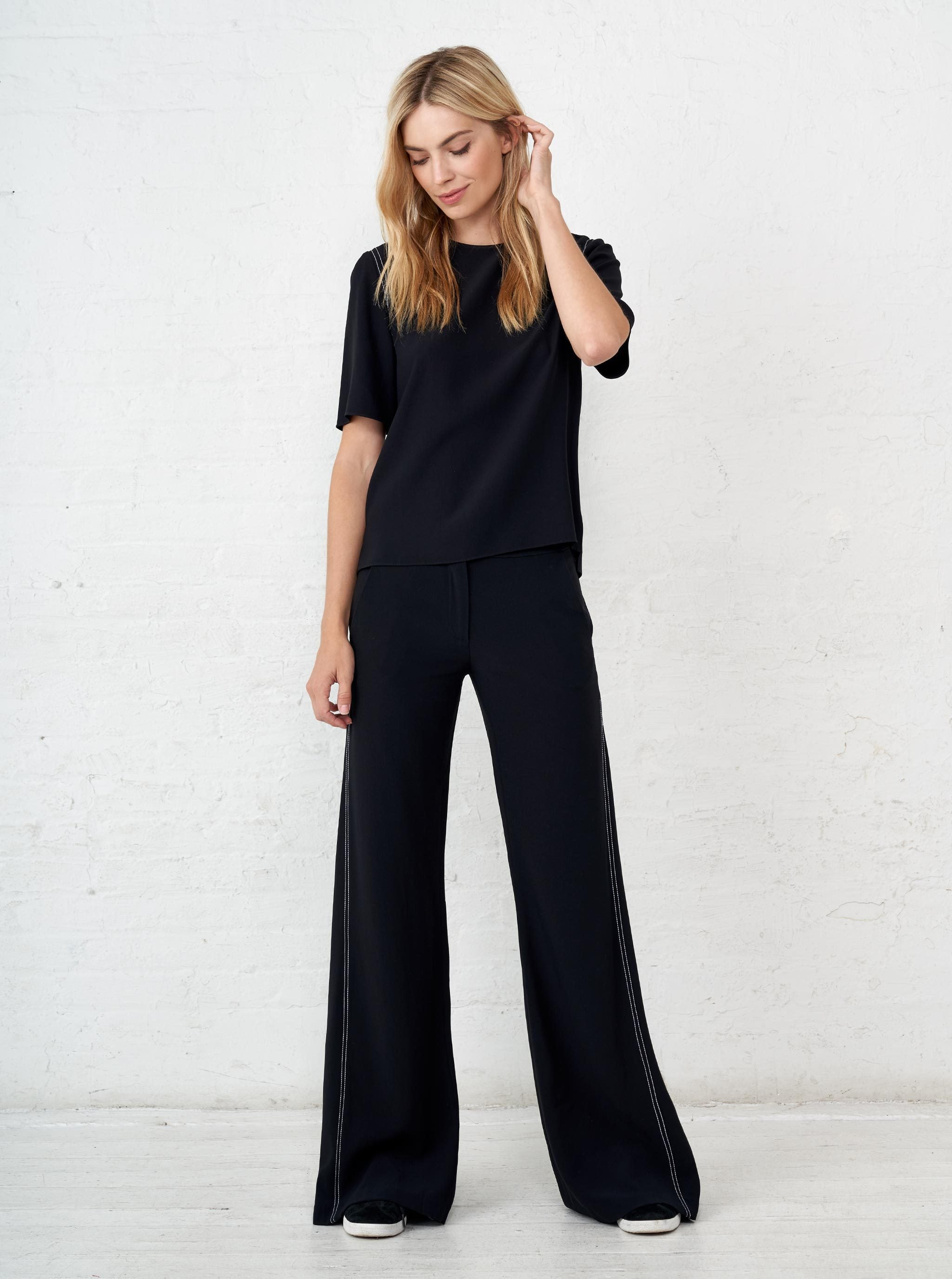 Top Stitch Flare Pants - La Ligne