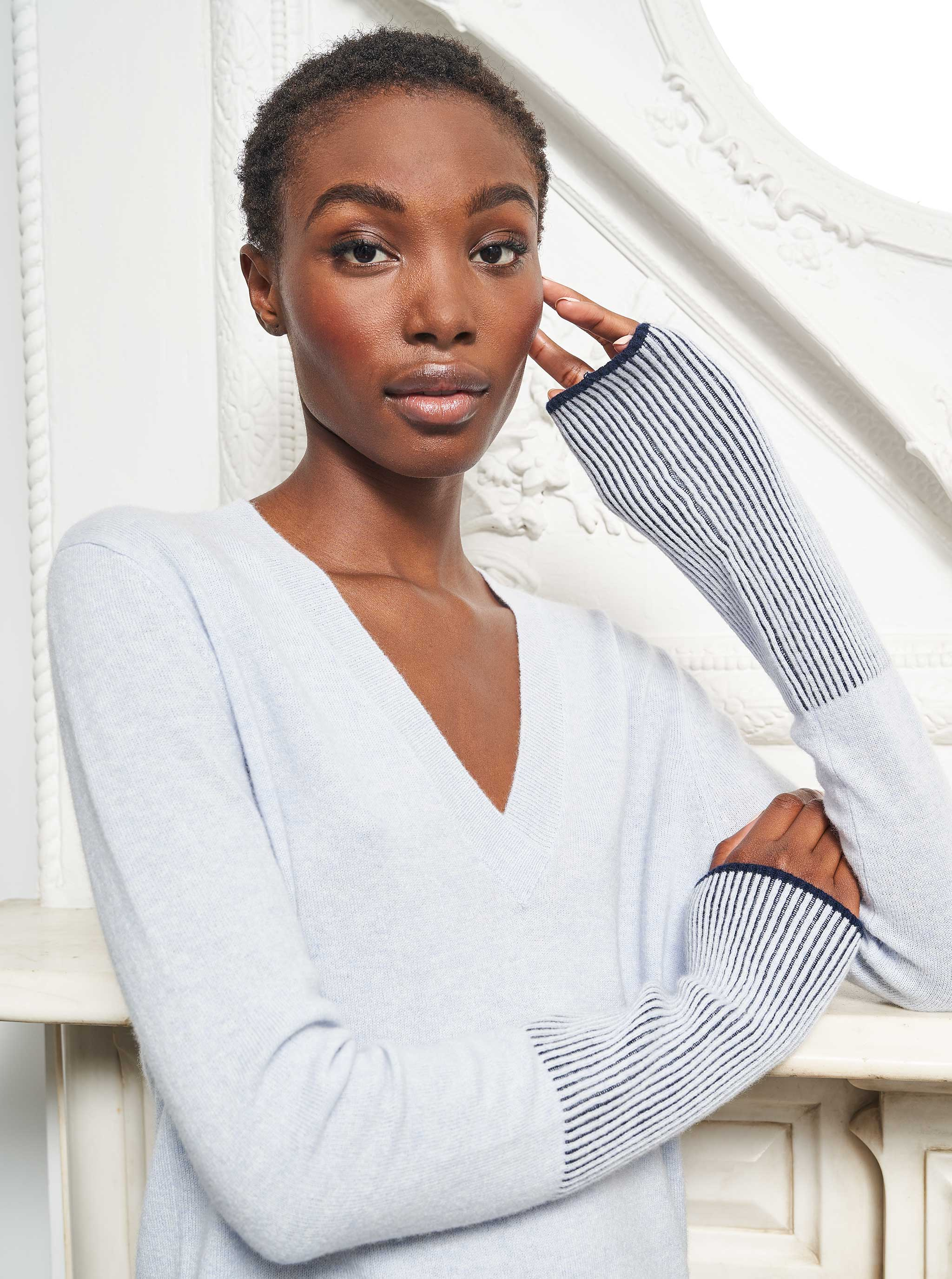 AAA V Neck Sweater - La Ligne