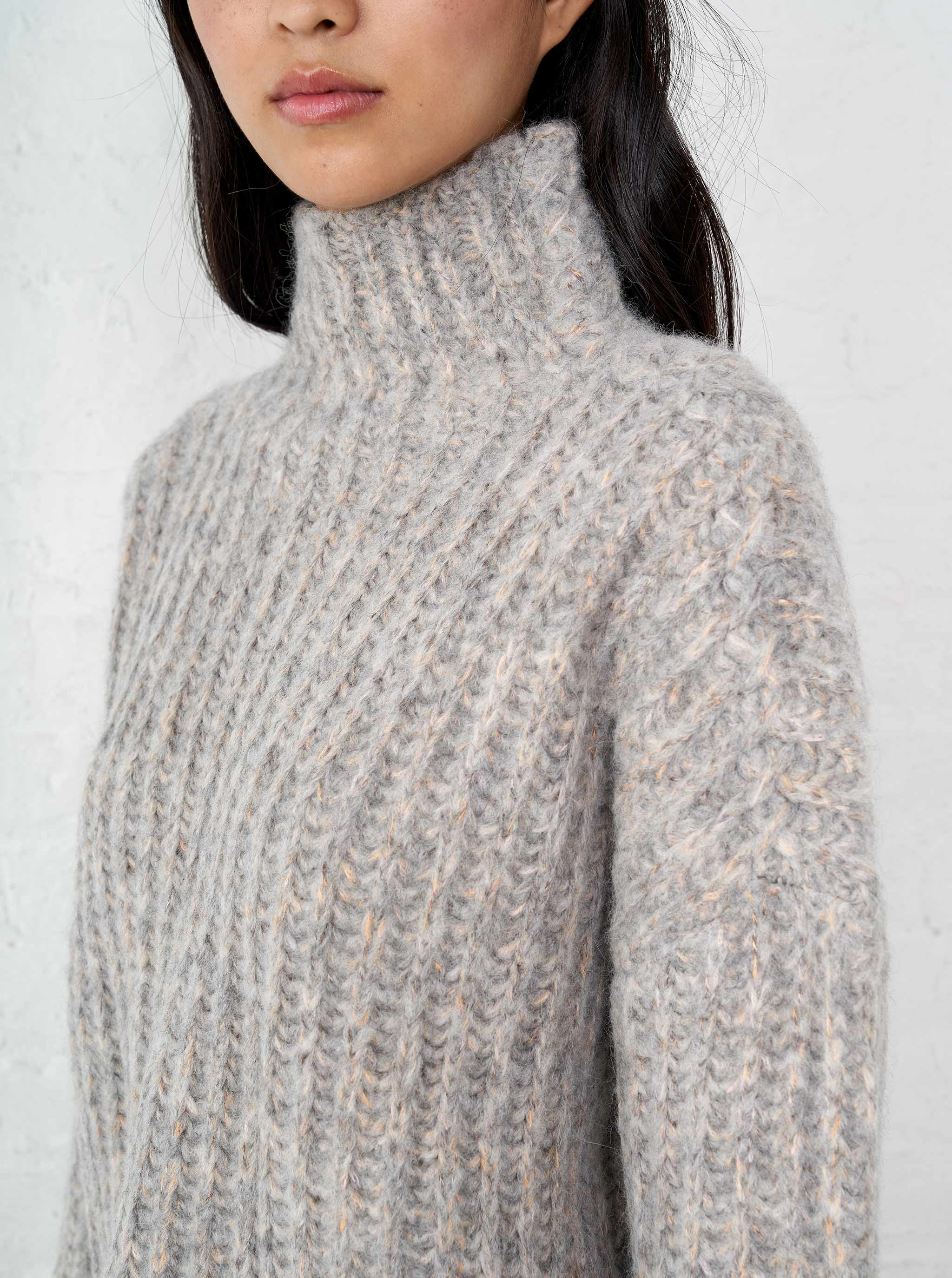 Fuzzy Wuzzy Funnel Neck Sweater - La Ligne